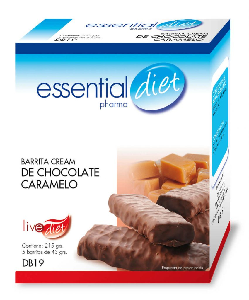 Clinicaalbayc nutrición pérdida de peso bajo control BARRITA CREAM DE CHOCOLATE CARAMELO