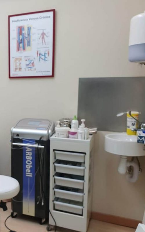 sala para el tratamiento de carboxiterapia en clinicaalbayc